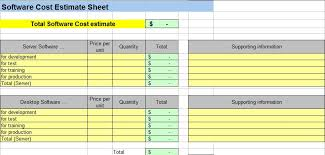 Project Estimate Template Excel Project Cost Estimating Spreadsheet