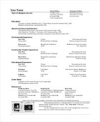 technical theatre resume templates theater resume template 6 free word pdf documents download