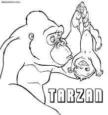 Small Picture Tarzan Coloring Pages In Coloring Pages itgodme