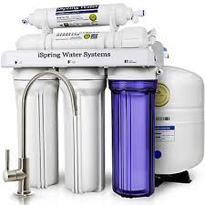 water filter system. ISpring WQA Gold Seal 5-Stage Superior Quality Under Sink Reverse Osmosis Drinking Water Filtration System   The Home Depot Canada Filter