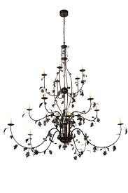 96 wide oak leaf 15 lt chandelier