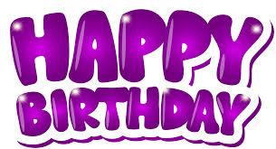Happy Birthday Purple Clip Art Png Image Gallery Yopriceville