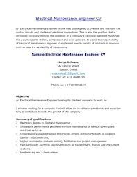 Amazing Maintenance Engineer Resume Sample Format Web Mechanical It