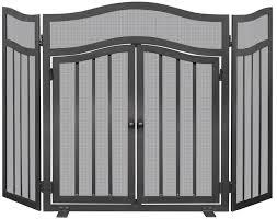3 panel wrought iron fireplace screen wayfair
