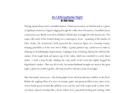 creative writing an unforgettable night gcse english marked document image preview