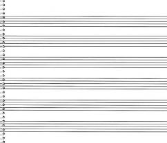 No 76 Spiral Book 6 Stave Extra Wide Passantino Manuscript