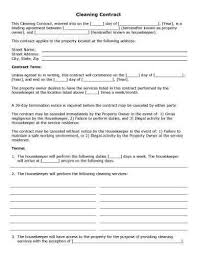 sample cleaning contract agreement 32 sample contract templates in microsoft word