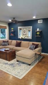 Blue paint color Seaworthy by Sherwin Williams. Perfect for living room  accent wall.