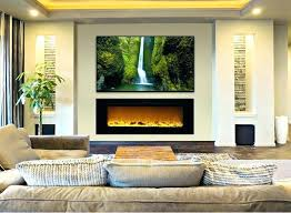 living room with wall mounted fireplace the touchstones inch recessed electric fireplace with heat in black wall mount fireplace