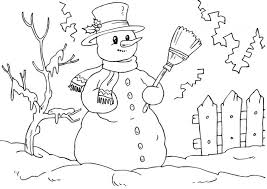 Small Picture Coloring Page Snowman mosatt