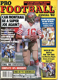 Amazon Com Pro Football Annual 1982 Joe Montana Cover