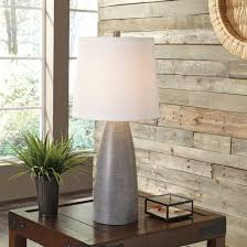 Lighting Stores Staten Island Lamps Contemporary Set Of Shavontae Poly Table Lamps By