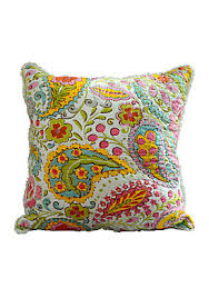 Dena Home™ Sun Beam Quilt Collection - Online Only | belk & Sun Beam Multicolored Paisley Embroidered Decorative Pillow 14-in. x 14-in. Adamdwight.com