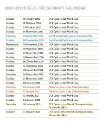 World Cup Tournament Chart Proposed 2020 21 Flanders Classics Uci World Cup Dates