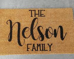 personalized front door matsCustom doormat  Etsy