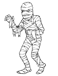 Small Picture Mummy Coloring Page Scary Looking Mummy