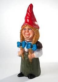 female garden gnome.  Female Garden Gnome Female Height 75 Cm Plastic Decoration Ornament With N