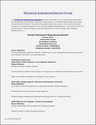 Resume Samples Experienced Mechanical Engineers New Sample Resume A