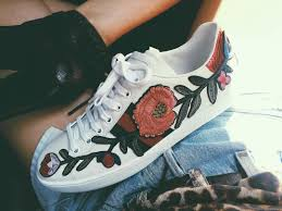 gucci shoes for men flower. gucci new ace floral-embroidered low-top womens sneakers shoes for men flower r