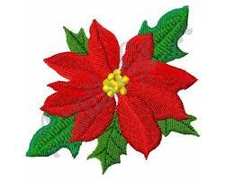 Poinsettia Designs Christmas Poinsettia Embroidery Design Machine Embroidery