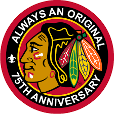 Chicago Blackhawks Anniversary Logo - National Hockey League (NHL ...