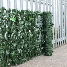 2 colour artificial ivy hedge