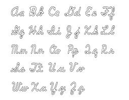 Bubble Letters Font Alphabets In Cursive Bubble Writing Alphabet A Z Cursive Letters All