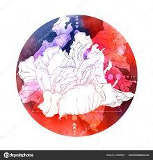 эскиз татуировки абстрактная цветок геометрические фигуры пятно
