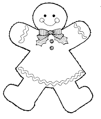 christmas cookies clip art black and white.  Art Gingerbread Outline Clipart  Suggest Gingerbread Man Coloring  Page  This Black And White Image Girl Was Donated By The  To Christmas Cookies Clip Art Black And White
