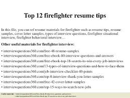 Firefighter Resume Templates Template All Best Cv Resume Ideas