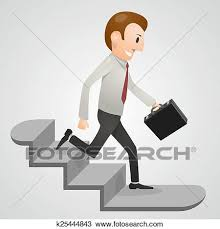 down stairs clipart. Exellent Down Clipart  Office Man Running Downstairs Fotosearch Search Clip Art  Illustration Murals On Down Stairs