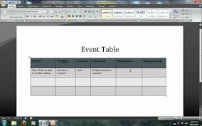 Event Table Systems Analysis Modeling Event Tables Avi