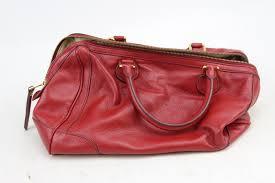 banana republic red cow leather handbag