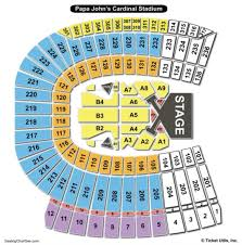 papa john s cardinal stadium seating chart louisville