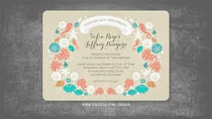 orange and turquoise wedding invitations. beach wedding invitations orange and turquoise