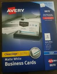 Avery 8870 Template Avery 8870 True Print Clean Edge Business Cards Inkjet 2 X 3 1 2 White