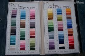 Penelope Wool Conversion Chart Vintage Penelope Tapestry