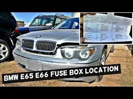 bmw e e fuse box locations chart diagram bmw e65 e66 fuse box location and diagram 745i 745li 750i 750li 760li 730i 735i 730d