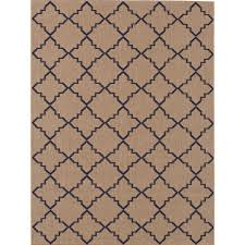 this review is from moroccan tile beige navy 5 ft x 7 ft indoor outdoor area rug