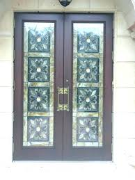 hurricane impact glass front doors hurricane impact front door handmade entry doors with custom stained glass