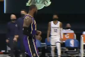 Video: LeBron James hits 3rd straight jumper, proceeds to talk trash to  Grizzlies bench - Lakers Daily