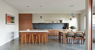 eat in kitchen furniture. Contemporary Home Design: The Thornbury House: White Countertop Kitchen Island And Neat Uncluttered Eat In Furniture D