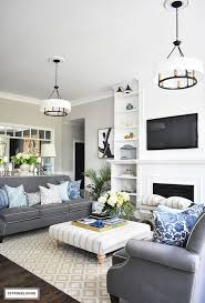 navy blue and white living room ideas decor houzz photos chairs rooms country living room