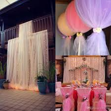 tulle diy wedding decor diy custom madetulle wedding decorations chair covers sashes on bridal shower chair