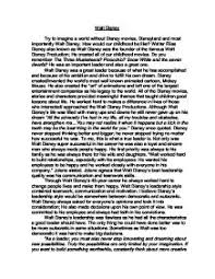 walt disney was a great leader because of what he has accomplished page 1 zoom in
