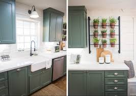 Green Color Kitchen Cabinets Green Cabinets Fixer Upper Kitchen Pinterest Gardens Green