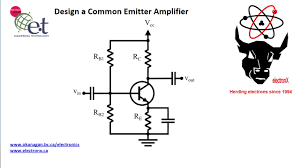 Ce Amplifier Design Values Design A Simple Common Emitter Amplifier