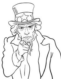 Small Picture Uncle Sams Hat coloring page 4th of july Pinterest Bulletin