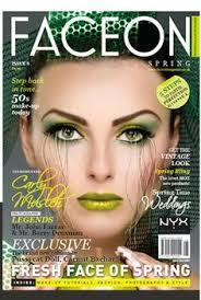 face on magazine