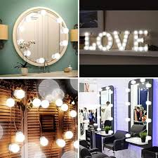 Add Lights To A Mirror Details About Makeup Mirror Lights 10 Led 3 Color Modes Bulbs Kits Vanity Light Dimmable Lamp